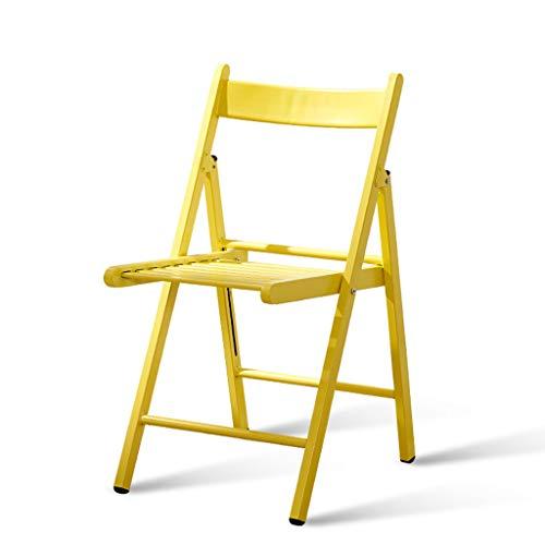 CCF Einfacher schmiedeeiserner Stuhl, der metallischen Balkon-Stuhl im Freien faltet C (Farbe : Gelb, größe : L43CMXW51CM XH79CM) | Garten > Balkon > Balkonstühle | Melamin | CCF