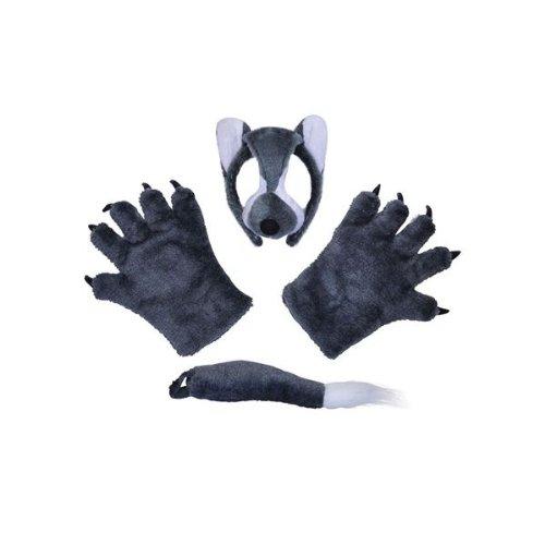 Wolf - Dressing Up Set (Wolf Kostüm Ohren)