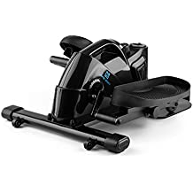 Capital Sports Mininoval Mini Bike Bicicleta elíptica stepper (entrenamiento en casa, ordenador con pantalla, pedales y, resistencia magnética regulable) - negro