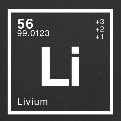 Liv Periodensystem - Herren T-Shirt - 13 Farben Schwarz