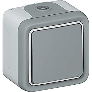 Legrand 69711 AP Plexo55 Double-Throw Switch Wd IP55 impact resistant