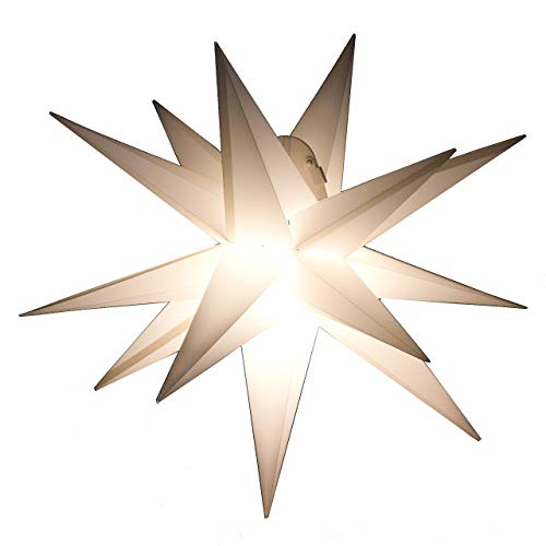 Outdoor Stern weiss - beleuchteter Stern Weihnachtsstern Leuchtstern Faltstern