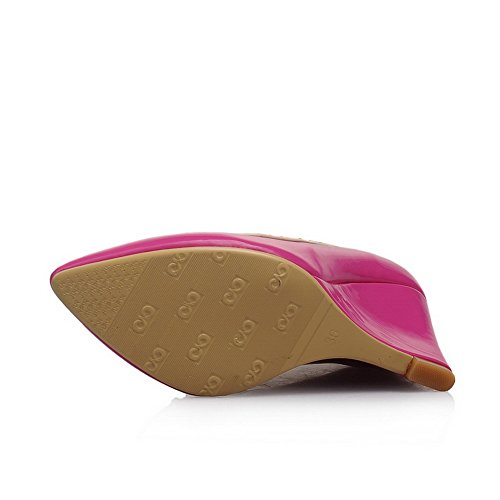BalaMasa-Scarpe da donna con borchie, Slip-On, in gomma, motivo scarpe con tacco RoseRed