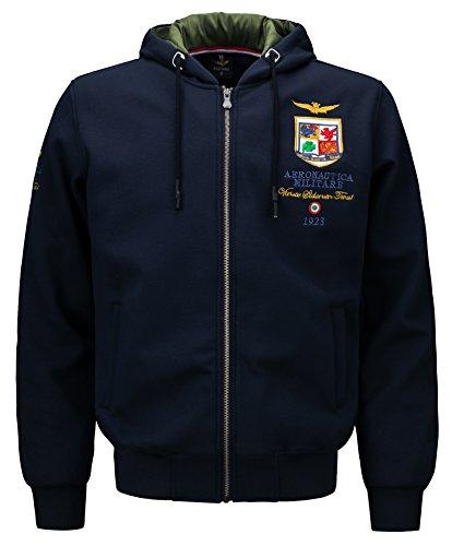 YYZYY Herren Sweatjacke Kapuzen-Jacke Zip-Hood aus einer hochwertigen Baumwolle Bomberjacken Abzeichen Stickerei Kapuzenpullover Jacke...