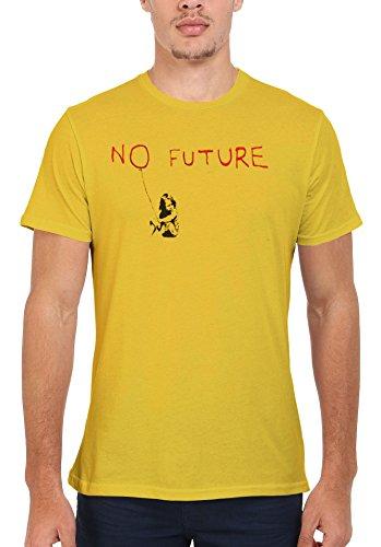 Banksy No Future Balloon Girl Graffiti Cool Funny Men Women Damen Herren Unisex Top T Shirt Licht Gelb