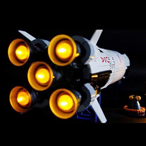 Poxl LED Licht Set Für NASA Apollo Saturn V, LED Light LED Beleuchtung Kit Kompatibel Mit Lego 21309 - Lego Modell Nicht Enthalten