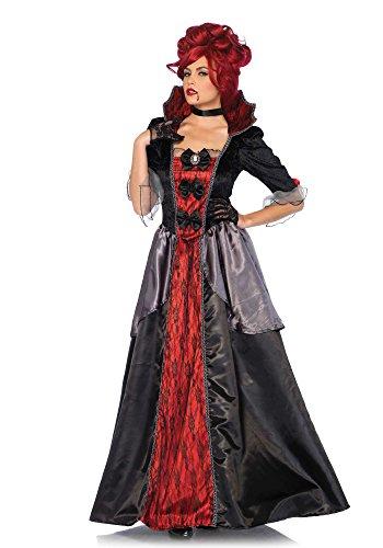 Leg Avenue 85551 2 teilig-Set Blood Countess, Damen Karneval Kostüm Fasching, L, - Rotes Ballkleid Kostüm