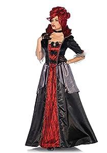 Leg Avenue- Mujer, Color Negro, Rojo, Medium (EUR 38-40) (85551)