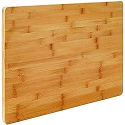 Eyepower XL Tabla de Cortar de Bambú 50x35x2cm Tabla de Cocina de Madera