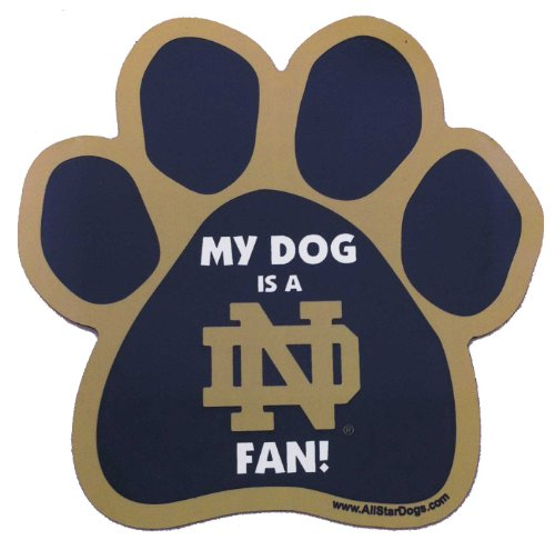 All Star Dogs NCAA Notre Dame Fighting Irish Paw-Magnet -