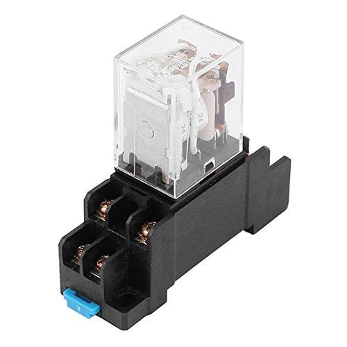 sourcing map LED Pilot Lampe Stromrelais mit 8 Schraubfassung 24V AC Spule 8 Pin DPDT de -
