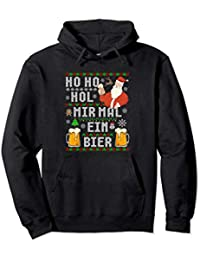 Witziges Weihnachten Ho Ho Hol mir ein Bier Ugly Christmas Pullover Hoodie