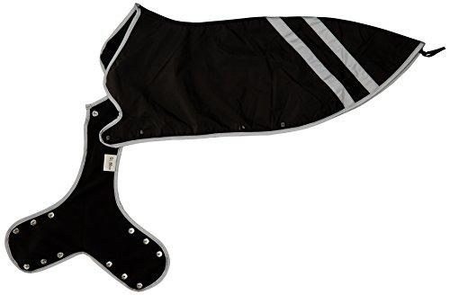 Hunter Manteau pour Chien Noir avec Bandes réfléchissantes de sécurité