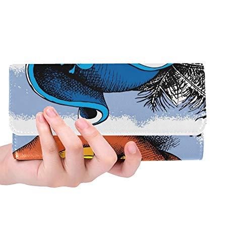 Einzigartige benutzerdefinierte Halloween Poster Bild Spooky Pumpkin Eyes Frauen Trifold Wallet Lange Geldbörse Kreditkarteninhaber Fall Handtasche (Benutzerdefinierte Damen Piraten Kostüm)