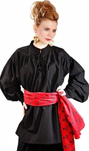 Grace O' Malley Poet Piraten Shirt - Black, Grösse:XXL (Grace O'malley Kostüm)