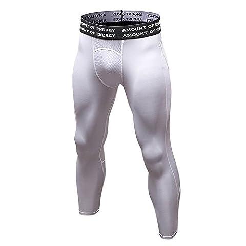 Lanbaosi Pantalon 3/4 de Compression Sous-Vêtements Thermique Pour Homme Leggin