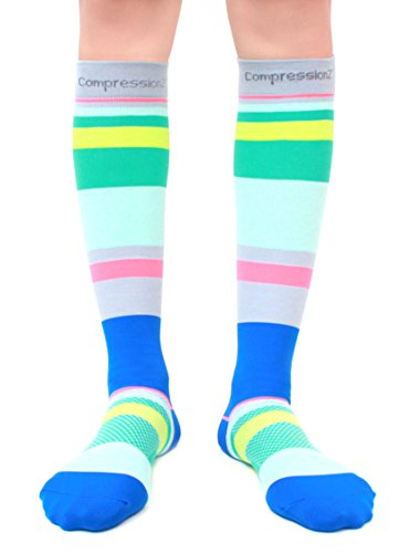 Compression Socks (Fun Patterns 20-30mmHg) Men & Women Running Casual Socks by CompressionZ Test