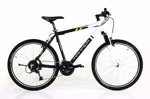 HAMMER Herren Mountain Bike Quest, schwarz/weiß, 45 cm