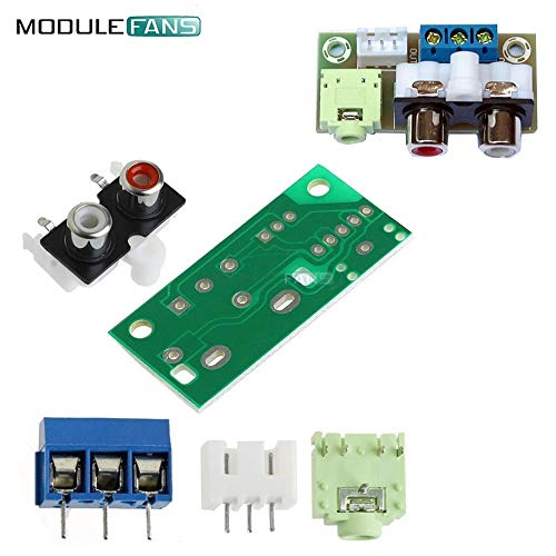 DIY Kit Audio DC 5V Switch Board Modul RCA 3,5 mm Audio-Eingangs Block für Verstärker-elektronische Kits -