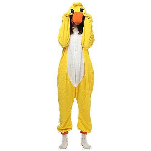Imagen de pijamas unisexo adulto traje disfraz animal adulto pato amarillo