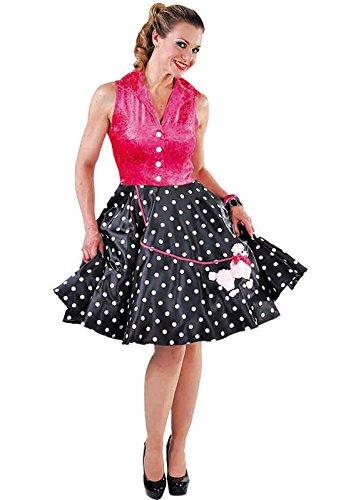 Rock n Roll Teddy Boy Rockabilly Kleid mit Pudel 60er 70 Jahre (Kostüm Billy Kid The)