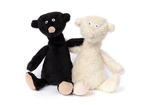 (sigikid, Kuscheltier für Erwachsene und Kinder, Bärenpaar, Forever Together, Sweet Beasts, Schwarz und Weiß, 20 x 16 x 7 cm)