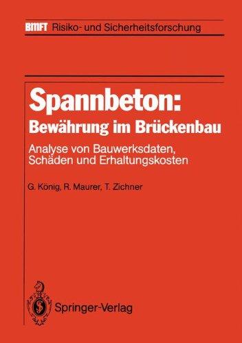 Spannbeton: Bewährung im Brückenbau: Analyse von Bauwerksdaten, Schäden und Erhaltungskosten (BMFT - Risiko- und Sicherheitsforschung)