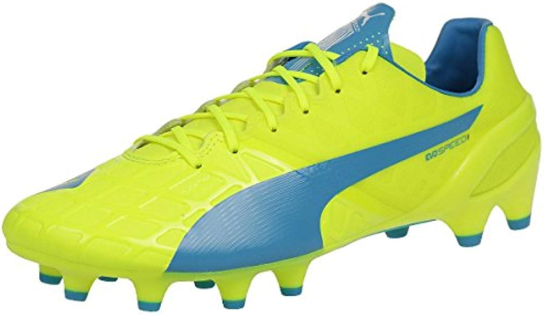 Puma Bota evoSPEED 1.4 FG Safety yellow-Atomic blue-White Talla 11,5 UK