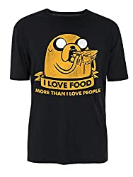 Jake The Dog I Love Food More Than People T-Shirt - Multiple Colours (S-XXL)