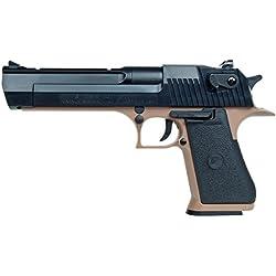 Desert Eagle - Replique Pistolet a Bille 50 AE 0.3 Joule Spring Tan et Noir Systeme Baxs Cybergun 090112 Airsoft