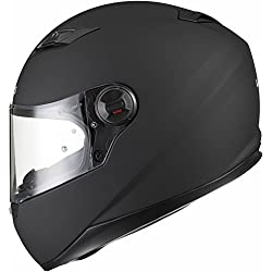 Agrius Rage Solid Motorcycle Helmet S Matt Black