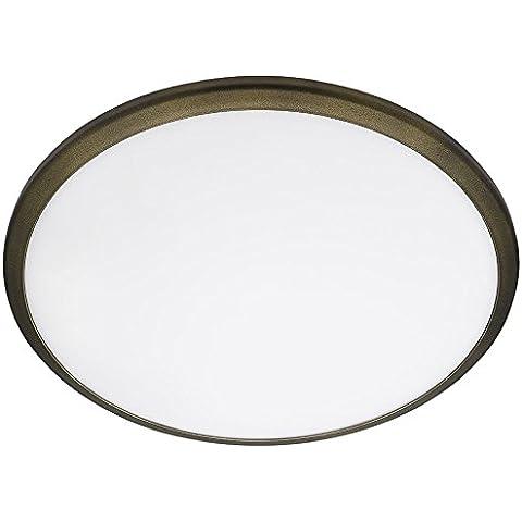 Philips myLiving Denim - Plafón LED, iluminación de interior, luz blanca cálida, 7,5 W, diámetro 35,3 cm, color bronce