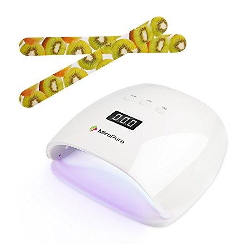 Secador de uñas profesional MiroPure con lámpara LED UV de 48W y...