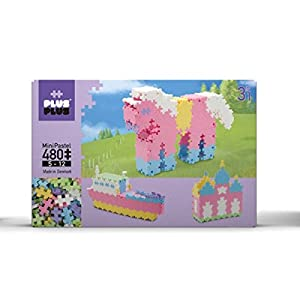Plus-Plus 52128 - Mini Pastel 3-in-1 Bausteine, 480 Stück