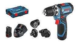 Bosch Professional Akku-Bohrschrauber GSR 12V-15 FC (12 Volt, 2x 2,0 Ah Akku, Schrauben-Ø max.: 7 mm, in L-Boxx)