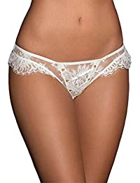 0a44b18c43ad Nacome Women's Low Waist Sex Lingerie Lace Knicker G-String Thong Underwear