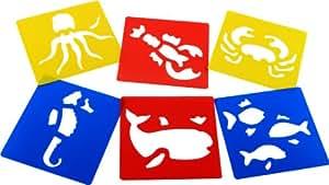 Sea Life Stencils (Set of 6)