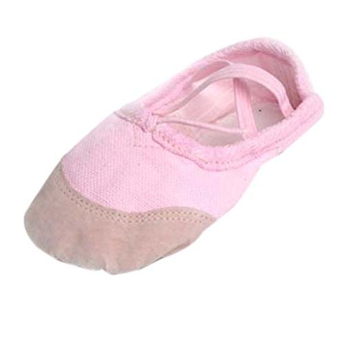 Filles-Chaussures-De-Ballet-Nouvelles-en-Toile-Chaussures-de-Danse-EU-24-30-Rose