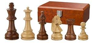 Philos 2066 Sigismund - Piezas de ajedrez (madera, altura del rey 95 mm, en caja, para 2 jugadores)