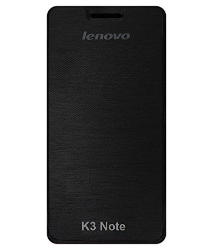 High Quality Flip Cover Case for Lenovo K3 Note - Black Color