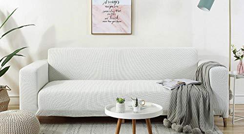 Funda elástica para sofá de blanco 1/2/3/4 plazas Color sólido universal todo...