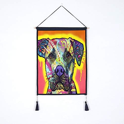 JUNZYGH Colgando Tapicería Pintura Dormitorio Tapicería De Tela Pinturas Decorativas Lindo Colorido...