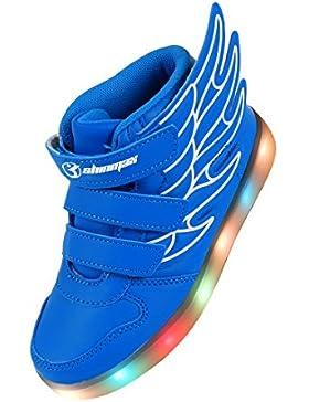 Angin-Tech Angel Serie Zapatillas LED 7 Colores de Carga USB para Intermitente Zapatos con Luces de Los Niños...