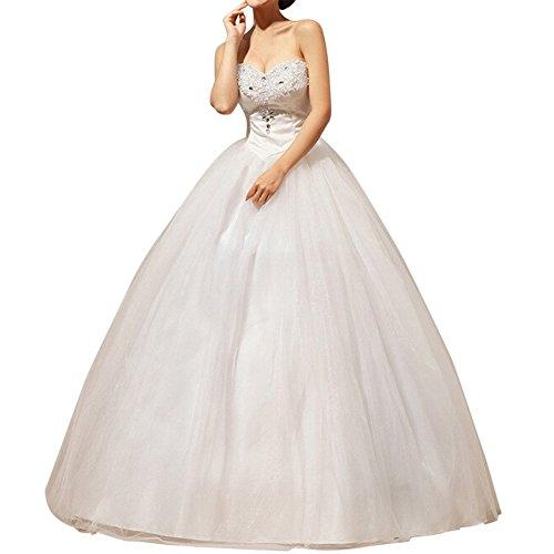 LATH.PIN Damen Abendkleider Elegant Abschlussballkleider Bandeau Kleid Hochzeitskleid mit Stickerei...