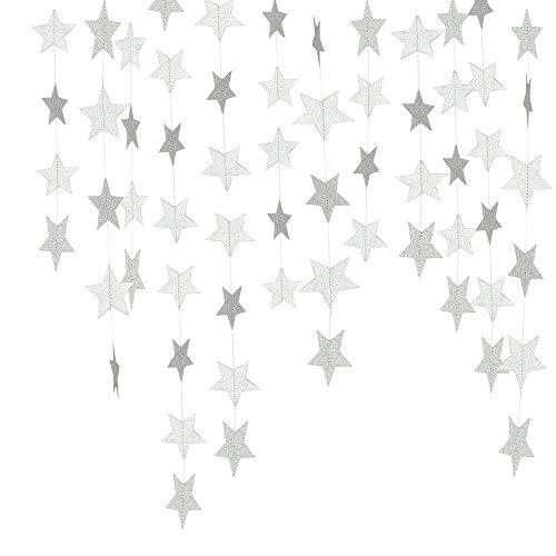 tionen Glitter Papier Girlande Geburtstag Party Baby Dusche Christmas Decor, 2Sets, 26Füße Total ()