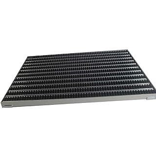 EMCO Eingangsmatte DIPLOMAT 22mm Bürsten schwarz mit ALU Rahmen Fußmatte Türmatte Abstreifer, Größe:1000 x 500 mm