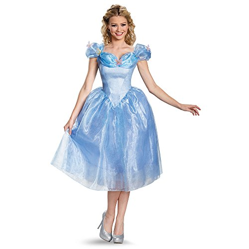 Women's Deluxe Cinderella Movie Fancy dress costume (Adult Deluxe Cinderella Kostüm)