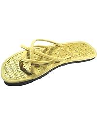Damen Zehentrenner Sandalen Sommer Schuhe aus Bambus und Velour Made in Chiang Mai Thailand