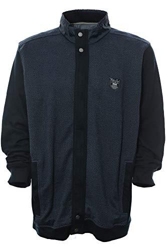 Kitaro Sweatjacke Sweat Jacke Jacket Shirt Herren Langarm Baumwolle, Farbe:dunkelblau, Herrengrößen:XXL -