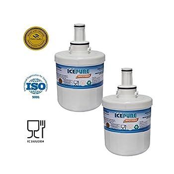 2 Pack Samsung Aquapure Da2900003g Plus Compatible Water Filter Refrigerator Rfc1100a 0